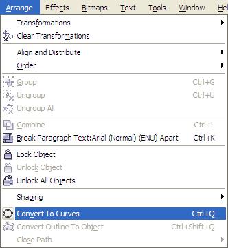 Utilizzo del testo in Corel Draw