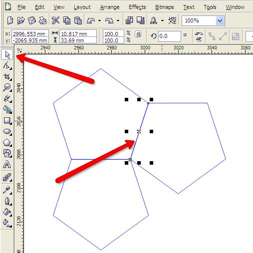 Corel Draw linee doppie
