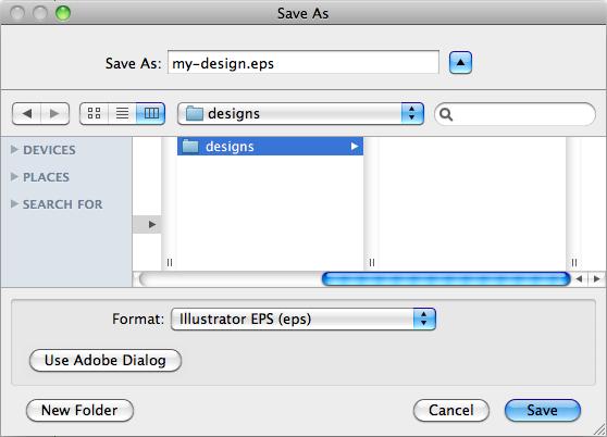 Esportare il file per il taglio laser in Illustrator