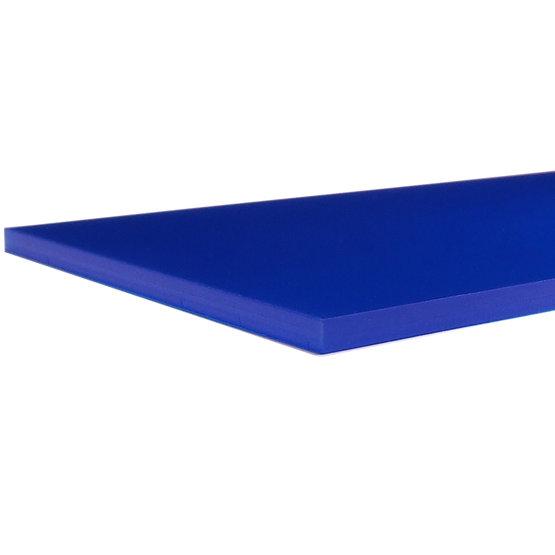 Bords coupés - Plexiglass bleu outremer opale pour la découpe au laser