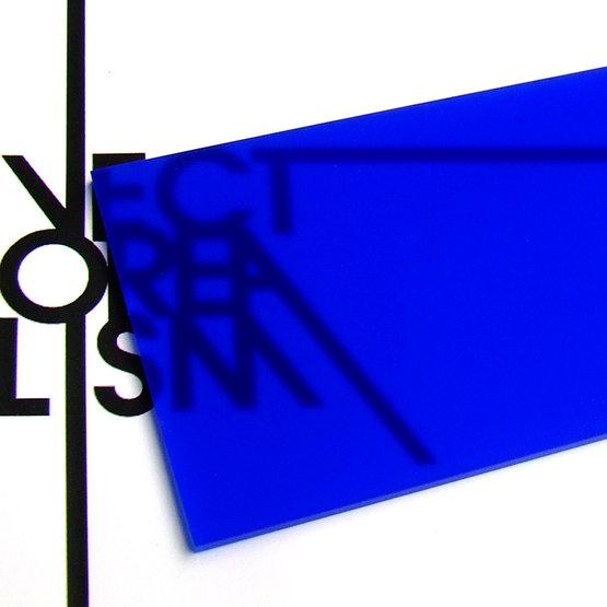 Surface - plexiglass bleu outremer opale pour la découpe au laser