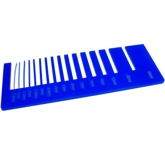 Precision test - opal blue ultramarine plexiglass for laser cutting