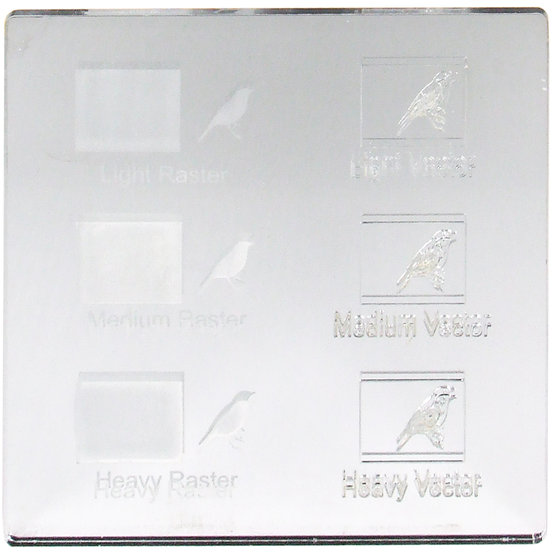 Engraving example - Plexiglass silver mirror for laser cutting