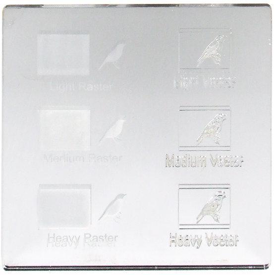 Exemple de gravure - Miroir en plexiglas argenté pour découpe au laser