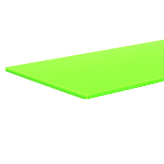 Cut edges - Light green Plexiglass for laser cutting