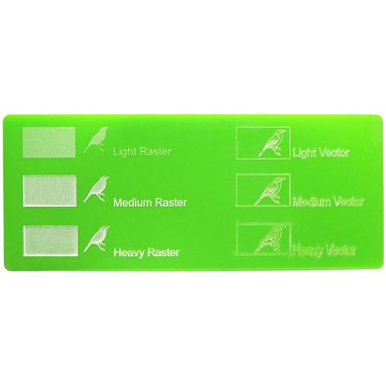Exemple de gravure - Plexiglass vert clair pour découpe au laser