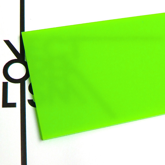 Surface - light green plexiglass for laser cutting