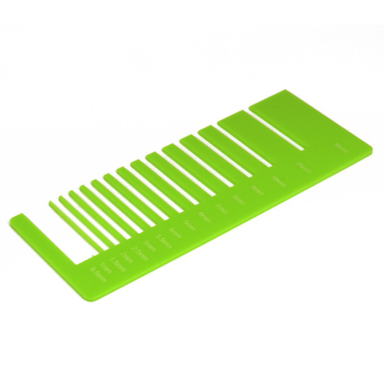 Test de précision - plexiglas vert clair pour découpe au laser