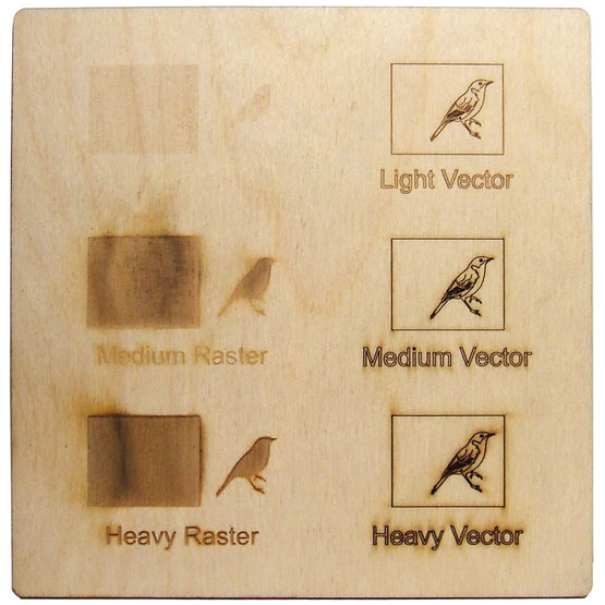 Example engraving - birch plywood for laser cutting
