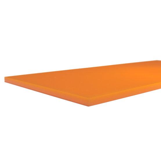 Arêtes de coupe - Mandarine en plexiglas pour découpe au laser