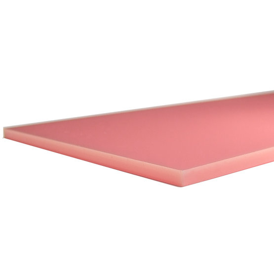 Bords coupés - Plexiglas rose pour la découpe au laser
