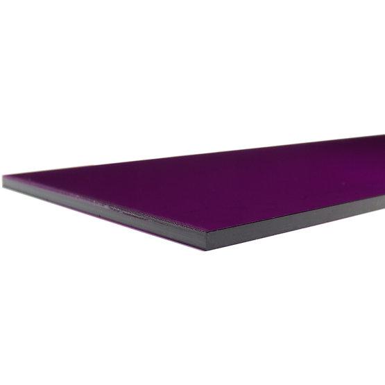 Bordi tagliati - Plexiglass viola trasparente per il taglio laser
