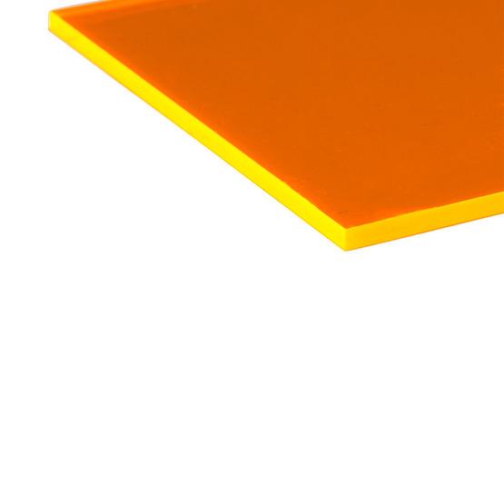 Bordi tagliati - Plexiglass arancione fluo per il taglio laser