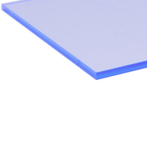 Cut edges - Fluorescent blue Plexiglass for laser cutting