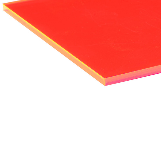 Cut edges - Fluo red Plexiglass for laser cutting
