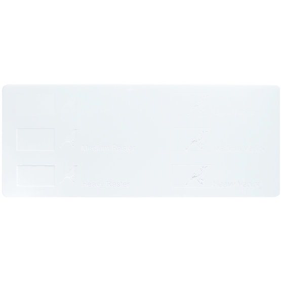 Exemple de gravure - Plexiglass blanc pour découpe au laser