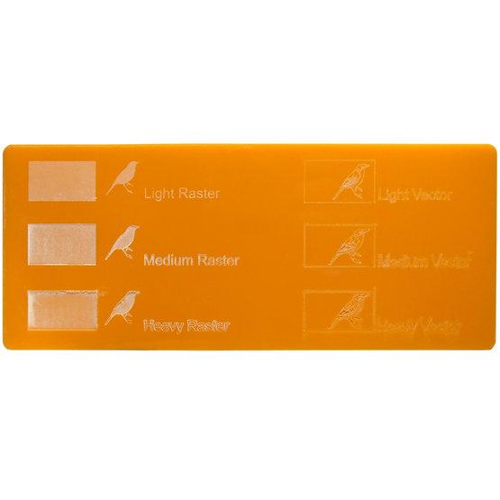 Exemple de gravure - Mandarine en plexiglas pour découpe au laser