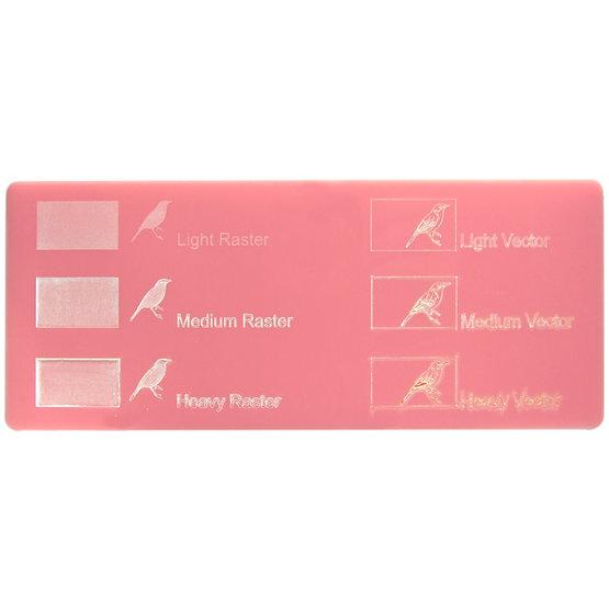Esempio incisione - Plexiglass rosa per il taglio laser