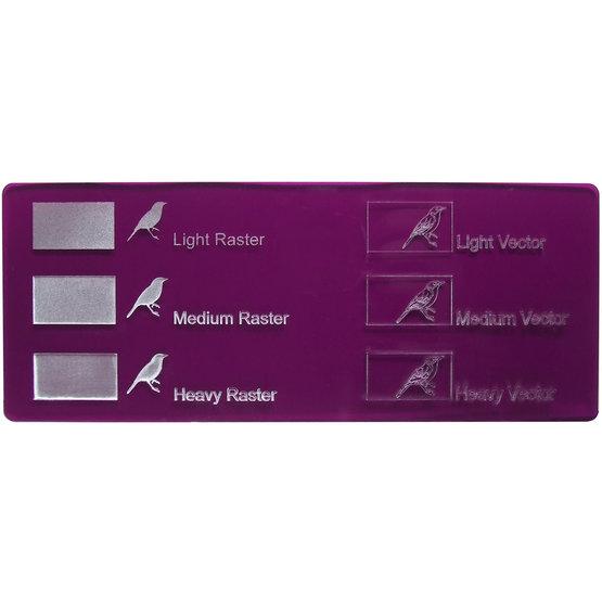Esempio incisione - Plexiglass viola trasparente per il taglio laser