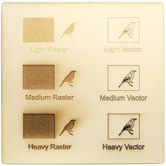 Exemple de gravure - carton végétal pour la découpe au laser