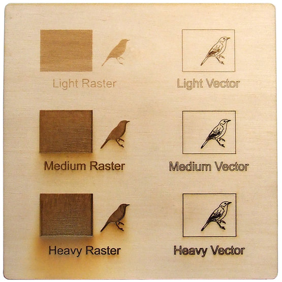 Example engraving - poplar plywood for laser cutting