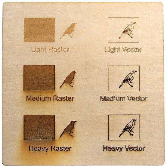 Exemple de gravure - contreplaqué de peuplier pour découpe au laser