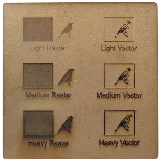 Esempio incisione - MDF per il taglio laser