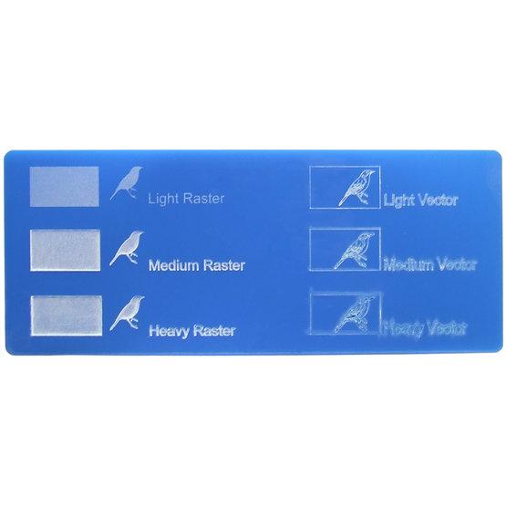 Exemple de gravure - Plexiglass bleu clair pour découpe au laser