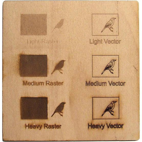Esempio incisione - compensato di faggio per il taglio laser