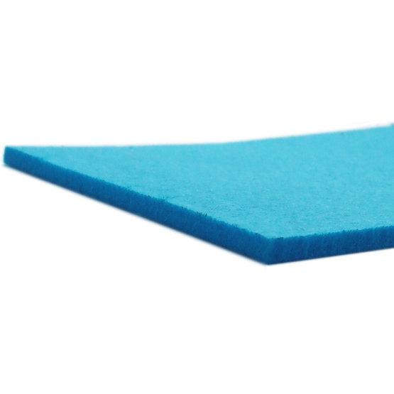 Bords coupés - feutre bleu clair pour la découpe au laser