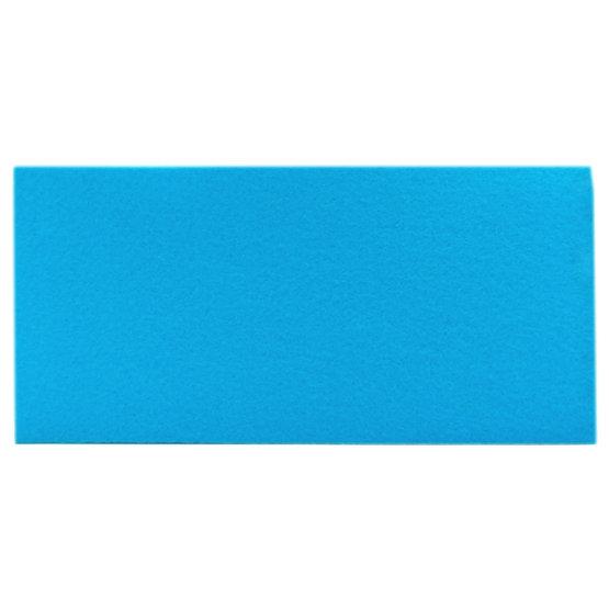 Échantillon - feutre bleu clair pour la découpe au laser