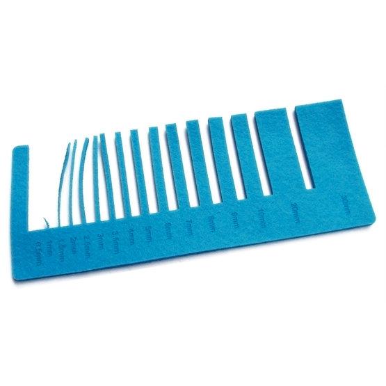 Test precisione - feltro azzurro per il taglio laser