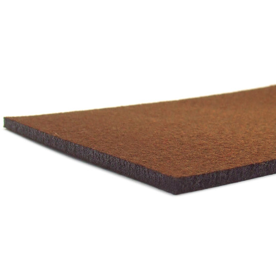 Bordi tagliati - feltro marrone per il taglio laser