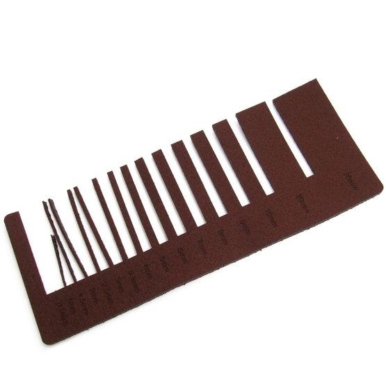 Test de précision - feutre brun pour découpe au laser