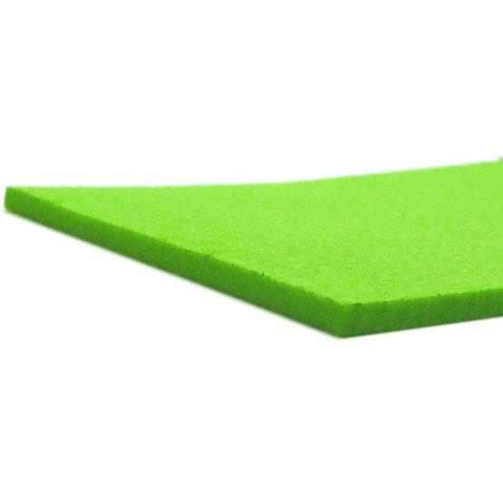 Bords coupés - feutre vert clair pour la découpe au laser