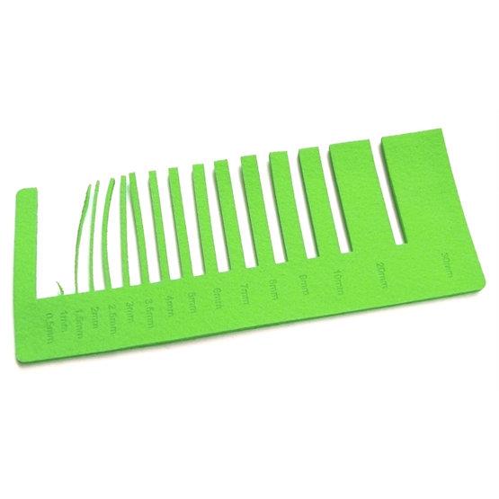 Precision test - light green felt for laser cutting