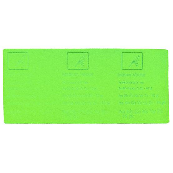 Engraving example - light green felt for laser cutting