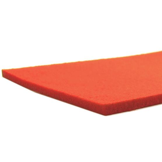 Bords coupés - feutre orange pour découpe laser