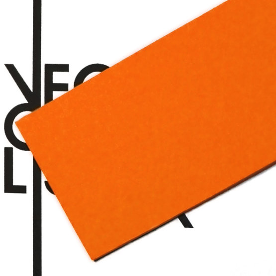 Superficie - feltro arancione per il taglio laser
