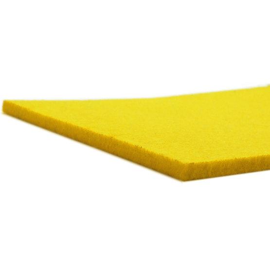 Cut edges - yellow felt for laser cutting