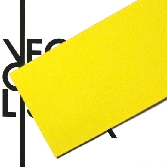 Surface - yellow felt for laser cutting