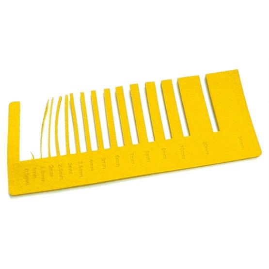 Precision test - yellow felt for laser cutting