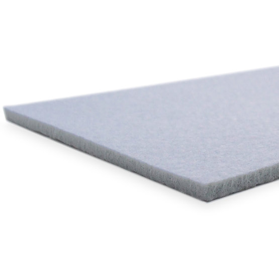 Cut edges - light gray felt for laser cutting