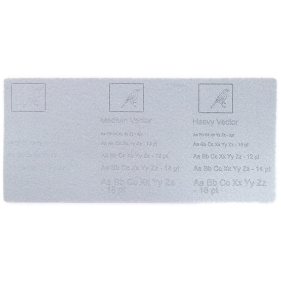 Engraving example - light gray felt for laser cutting