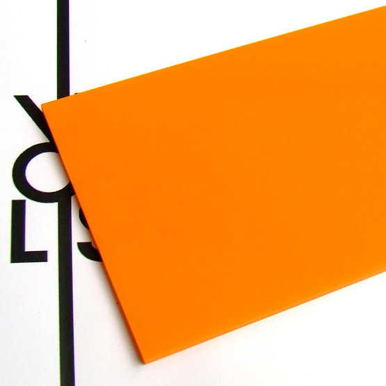 Surface - plexiglas mandarine pour découpe au laser