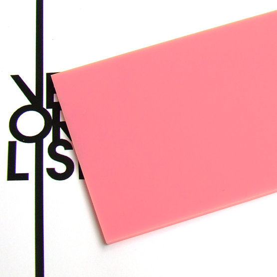 Surface - pink plexiglass for laser cutting