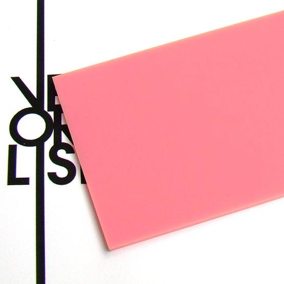 Surface - plexiglas rose pour la découpe au laser