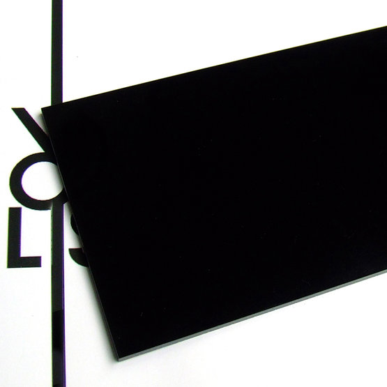 Surface - black plexiglass for laser cutting