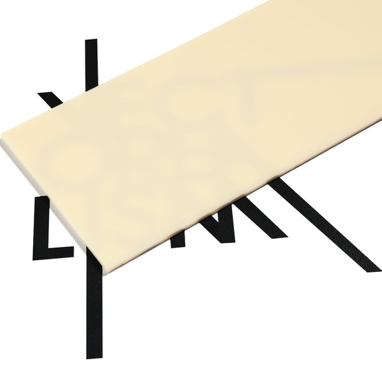 Surface - plexiglass cream for laser cutting