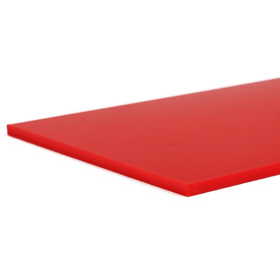 Bordi tagliati - Plexiglass rosso fragola per il taglio laser